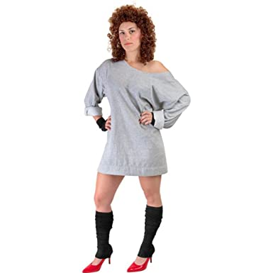 womens 80s flash dance halloween costume size 8 - 80s Dancer Halloween Costume