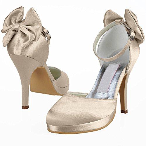Kevin Fashion ,  Damen Hochzeitsschuhe , Braun - Marrón - dorado champán - Größe: 43