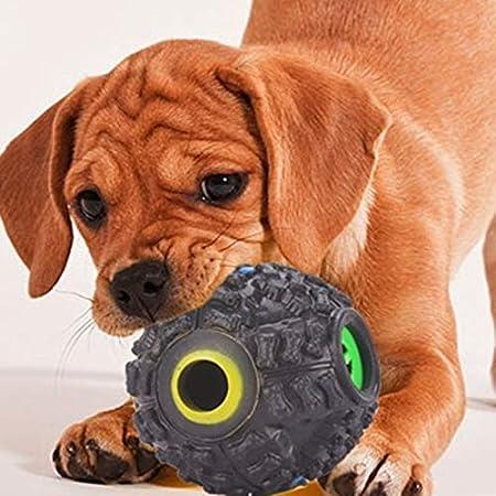 YuamMei Pelota de Entrenamiento de Sonido para Perro Juguete Interactivo Inteligente para Perros
