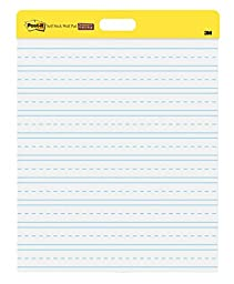 Post-It Primary Ruled Self-Stick Wall Pad, 20 x 23 Inches (566PRL)