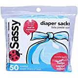 Sassy Disposable Diaper Sacks, 50 Count