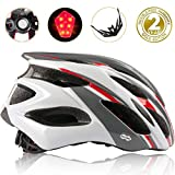 Cheap Shinmax Bike Helmet, CPSC Certified Adjustable Lighted Bike Helmet Specialized Cycling Helmet Men&Women With Visor&Rear Light