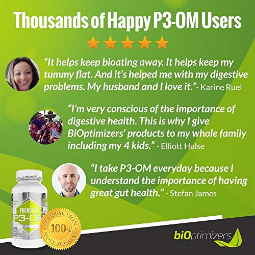 P3-OM - Best Probiotics for Women and Men - Dr. Formulated - No Refrigeration Needed - Patented Single Strain - Boosts Immunity - Supports Digestive Health (120) by BiOptimizers (Image #3)