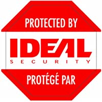 Ideal Security Inc. SK612 Security Warning Stickers