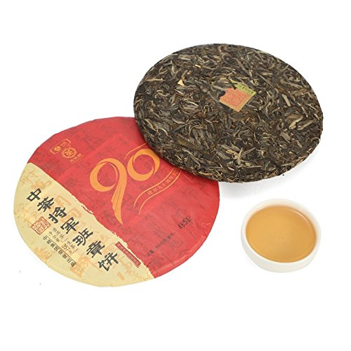 Yunnan Pu'er Tea General Class Chapter Jianjun 90th Anniversary Tea Tea 357g/cake 云南普洱茶 将军班章 建军90周年纪念茶 生茶357g/饼 by 中茶 (Image #1)