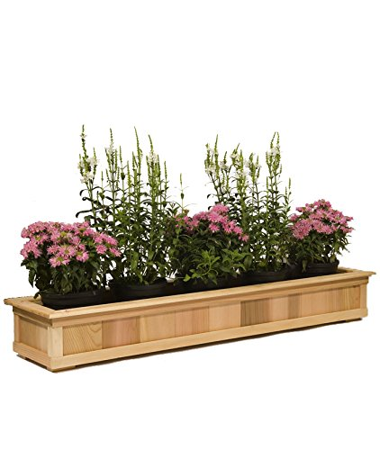 Baltic Leisure 10 3/4 Wide Cedar Top Rail Planters