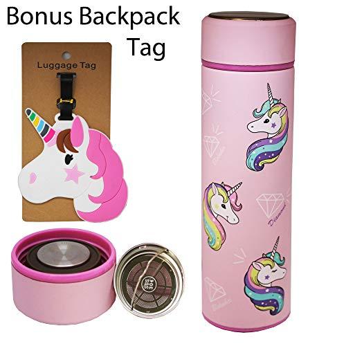 Unicorn Cartoon Character Thermos Bottle Stainless Steel Vacuum Cup Thermal Mug Tumbler Tea Coffee Mug Kid Student Christmas Gift (Unicorn: ()