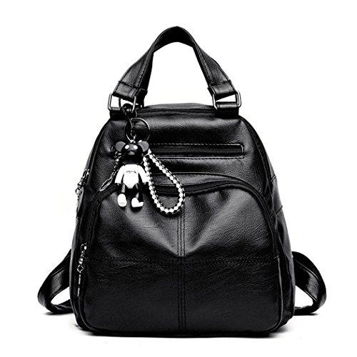 bandoulière Sacs Sacs Femme Cuir Noir portés portés main dos Sacs Faux Noir 1z16wx