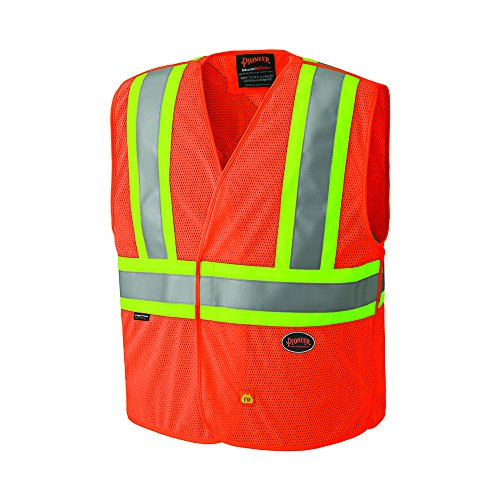 Safety Vest Away Tear (Pioneer V2510850U Hi-Vis Flame Resistant Vest - Orange (2/3XL))