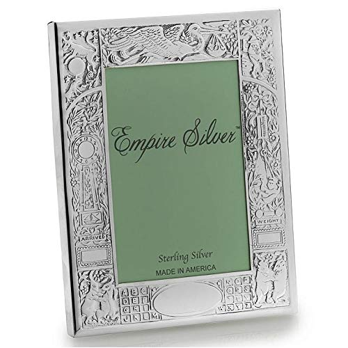 The Original Fine .925 Sterling Silver BIRTH RECORD Frame by Empire Silver - 4x6