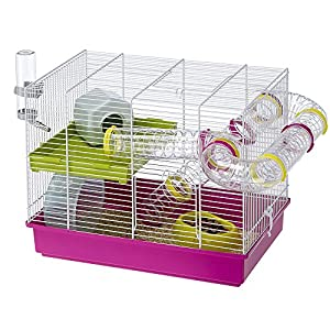 Amazon.com : Ferplast Laura Hamster Cage With Accessories : Birdcages : Pet Supplies