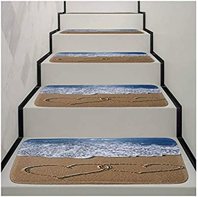 Conjunto de peldaños de escalera de alfombra, Área Alfombras de corredor Pisos de escaleras interiores Entrada duradera pasillo rectángulo moquetas Mantiene los pisos limpios for niños Ancianos y perr: Amazon.es: Hogar