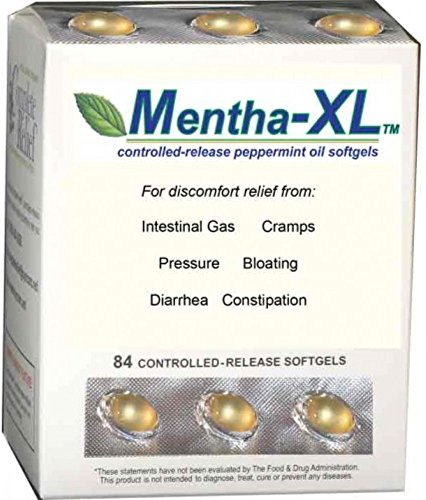Mentha-XL Peppermint Oil Softgels 84 ea (Pack of 3) by Complete Relief