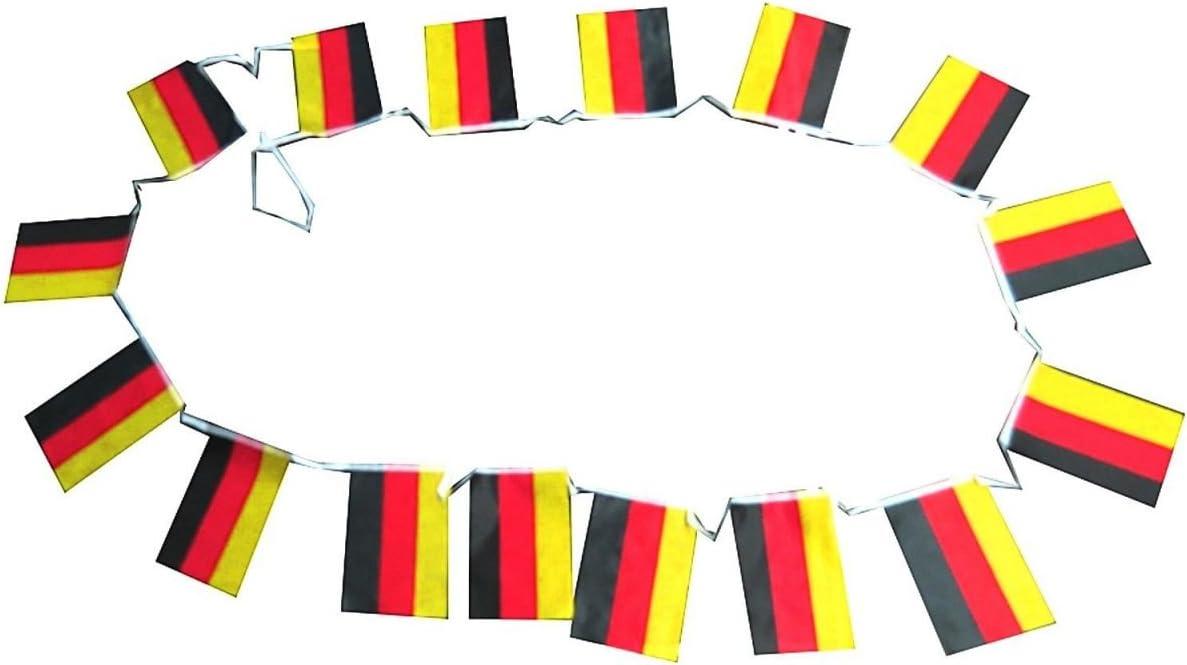 Sonia Originelli Fahnenkette Internationale L/änder Girlande 16 F/ähnchen 4,5 Meter WM
