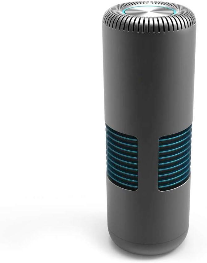 كارفان منقي هواء السيارة ومنظف هواء صغير محمول مع منفذ USB لتنظيف 5 فولت إسفنجة منظف للمكتب والسيارة الجديدة/الحيوانات الأليفة (أسود)