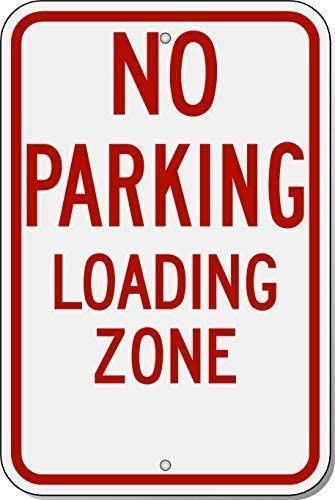 No Parking Here to Corner Sign 8x12 Aluminum Signs cheapyardsigns