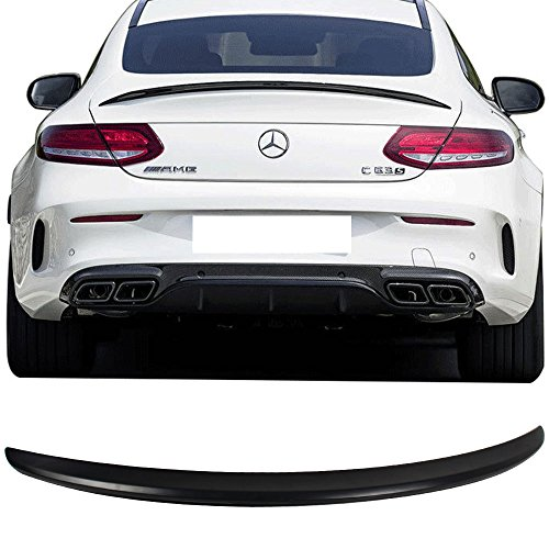 Trunk Spoiler Fits 2015-2017 Mercedes Benz C-Class W205 C205 | AMG Style ABS Rear Tail Lip Deck Boot Wing Other Color Available By IKON MOTORSPORTS | 2016