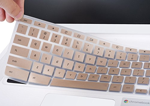 CaseBuy-Champagne-Gold-Acer-Chromebook-14-Silicon-Keyboard-Protector-Skin-Cover-for-Acer-Chromebook-14-CB3-431-CP5-471-14-Chromebook-US-Version-Champagne-Gold