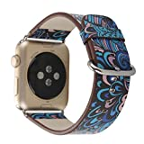 Alonea 38MM 42MM Single Tour Leather Band Bracelet Watchband For Apple Watch Series 1/2