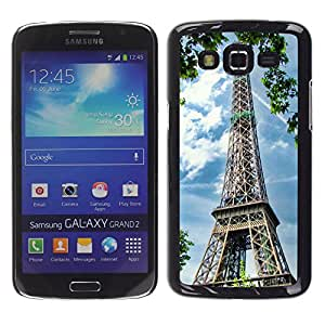 - Paris Eiffel Tower - - Fashion Dream Catcher Design Hard Plastic Protective Case Cover FOR Samsung Galaxy Grand 2 Retro Candy