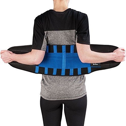Medi-Gear Back Brace - Lumbar Support Belt for Lower Back Pain - Posture Corrector and Stabilizer with Dual Adjustable Straps (Heavy Lifting Gear)