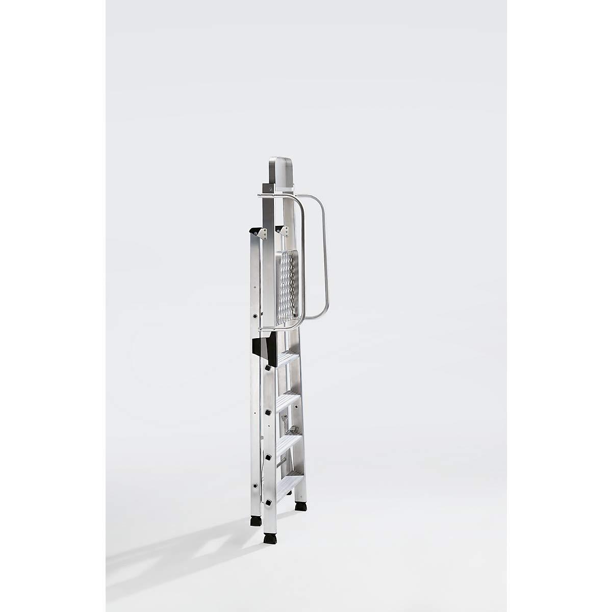 4,35 m Aluminium-Stehleiter 10 Stufen Arbeitsh/öhe bis ca