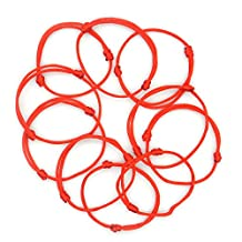 Lot - 10 Kabbalah Red String Bracelets Evil Eye Jewelry Kabala Charm Fashion Bangle