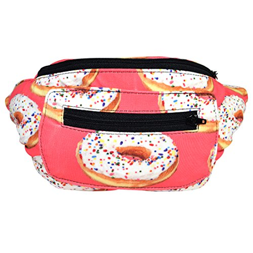 Pocket Hugger (Santa Playa Sweetness is My Weakness Fanny Pack, Boho Chic Handmade Hip Hugger w/Hidden Pocket by (Pink Sprinkles))