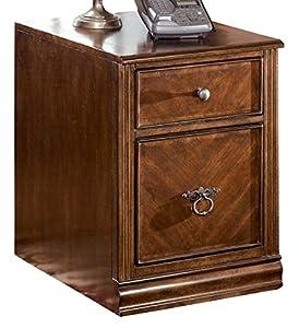 Ashley Furniture Signature Design   Hamlyn File Cabinet   Single Drawer    Medium Brown