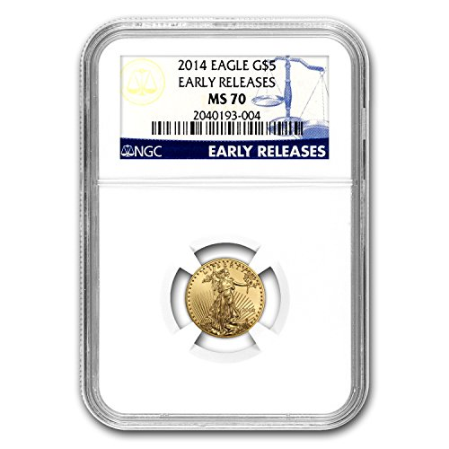 2014 1/10 oz Gold American Eagle MS-70 NGC (Early Releases) Gold MS-70 NGC