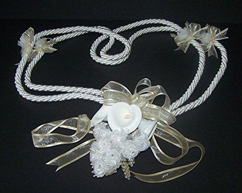 Bridal Lassos Wedding Lassos Lazos De Boda Hand Made In USA - Ivory Color ( Lasso4-IV - Usa Co Www Tiffany