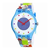 quilted dial watch - Swatch Originals Quilted Time White Dial Silicone Strap Unisex Watch SUOS108