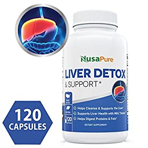 Best Liver Support & Cleanse 120 Capsules (Vegetarian, NON-GMO & Gluten Free) - All Natural Liver Detox with Milk Thistle, Zinc, Turmeric - Liver Health - Vegan - 100% Money Back Guarantee