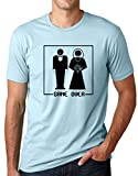 Game Over Funny Marriage T Shirt Wedding Humor Tee T Shirt Light Blue Medium