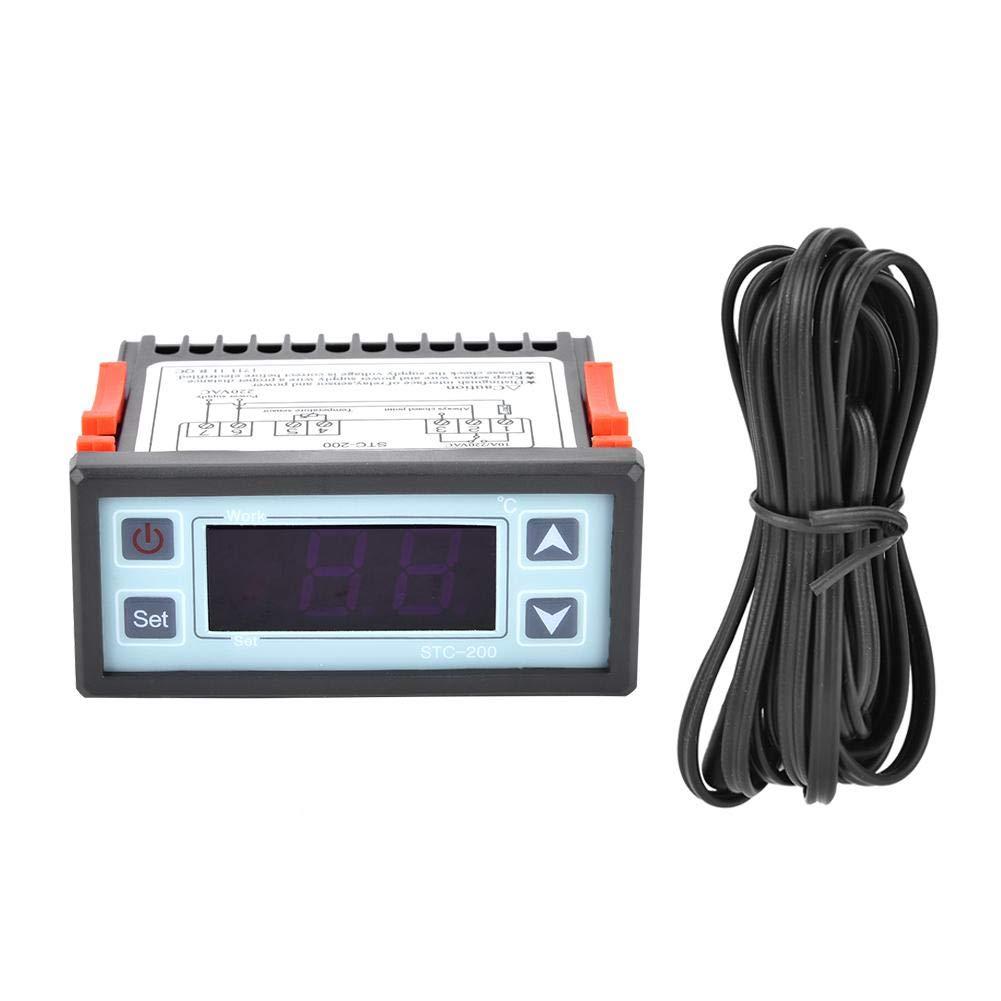 Temperature Controller,STC-200 Digital Microcomputer Thermostat Temperature Controller with Refrigeration Heating
