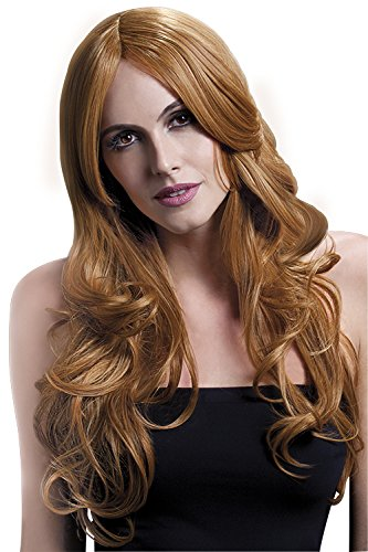 Fever Women's Auburn Long Wavy Wig with Centre Part, 26inch, One Size]()