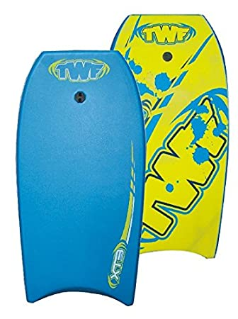 TWF Kid s XPE Pro EVA – Tabla de Bodyboard, Color Azul y Amarillo
