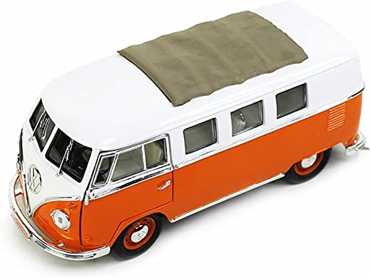 Volkswagen VW Microbus 1962 Orange 1:43 Model LUCKY DIE CAST