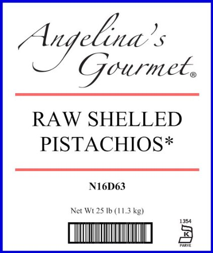 Raw Shelled Pistachios - 25 Lb Bag / Box