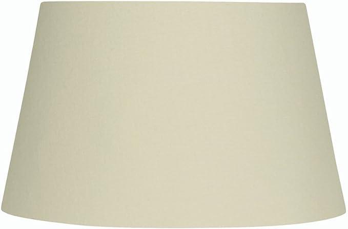 Imagen deOaks Lighting - Pantalla cilíndrica para lámpara, algodón, color Beige           [Clase de eficiencia energética A]