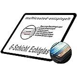 DolDer LCD Displayschutz Glas für Sony Alpha 6300 / A6000 - LCD-Echtglas-Protektor für Sony Alpha 6300 - 6 Schicht-Prinzip plus Schutzrahmen (made by Larmor)