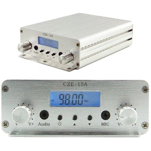 CZERF CZE-15A 3W/15W 88MHz~108MHz FM Stereo PLL Radio Broadcast Transmitter OB0233