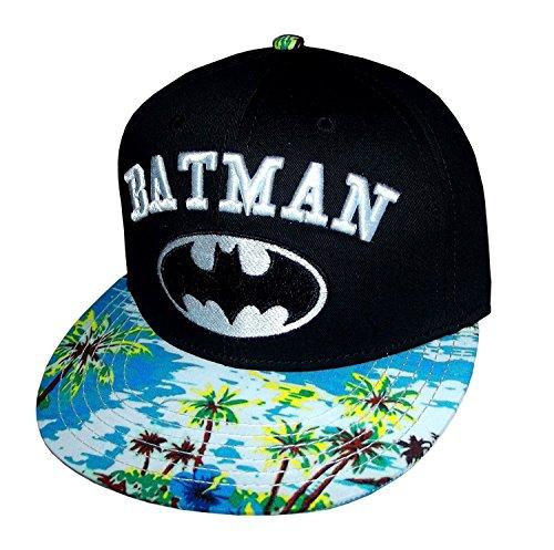 DC Comics Batman Embroidered Logo Tropic Bill Snapback Gorra De Béisbol