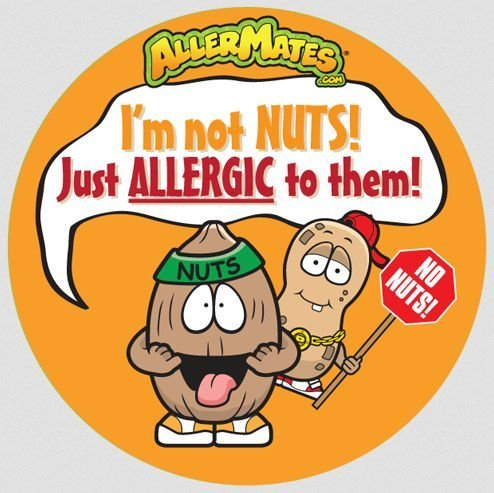 Allergy Tree Nuts - Allermates 10186 Peanut/Tree Nut Allergy Alert Stickers