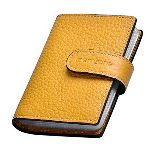 Teemzone Women's Leather Business Credit Id Card Case
