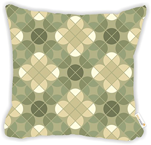 "(Rikki Knight Dusty Green Seamless Pattern Design Design 16"" Square Microfiber Throw Decorative Pillow with Double Sided Print (Insert NOT Included))"