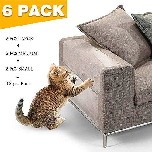 JASIWAY Furniture Protectors from Cats Couch Shield for Cats Furniture Scratch Guards for Sofa Door Wood Furniture 6 Packs