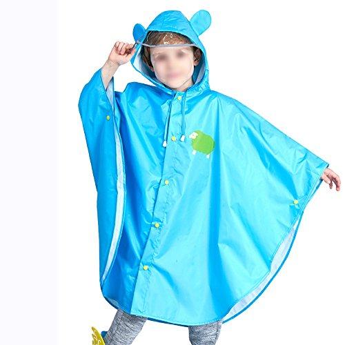 Poncho semplice Protezione ambientale Creatività genitore materna scuola bambino pratico figlio Poncho Mantello ZZHF Impermeabile Impermeabile Blue Bambini Bambino yuyi fATZZx4