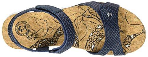 Panama Jack Sulia Snake, Sandalias con Cuña Para Mujer Azul (Navy)