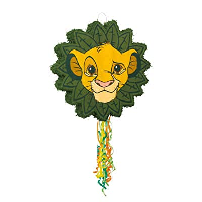 Disney Lion King Shaped Drum Pull Party Pinata: Toys & Games